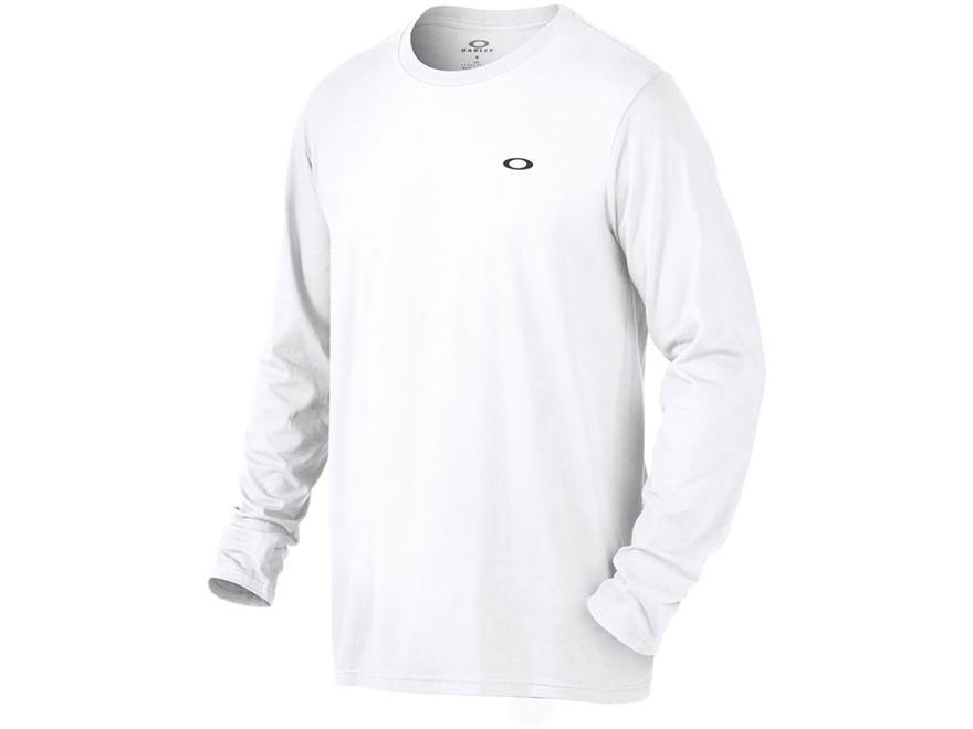Oakley Men's Ellipse Logo T-Shirt Long Sleeve O-Hydrolix White 2XL