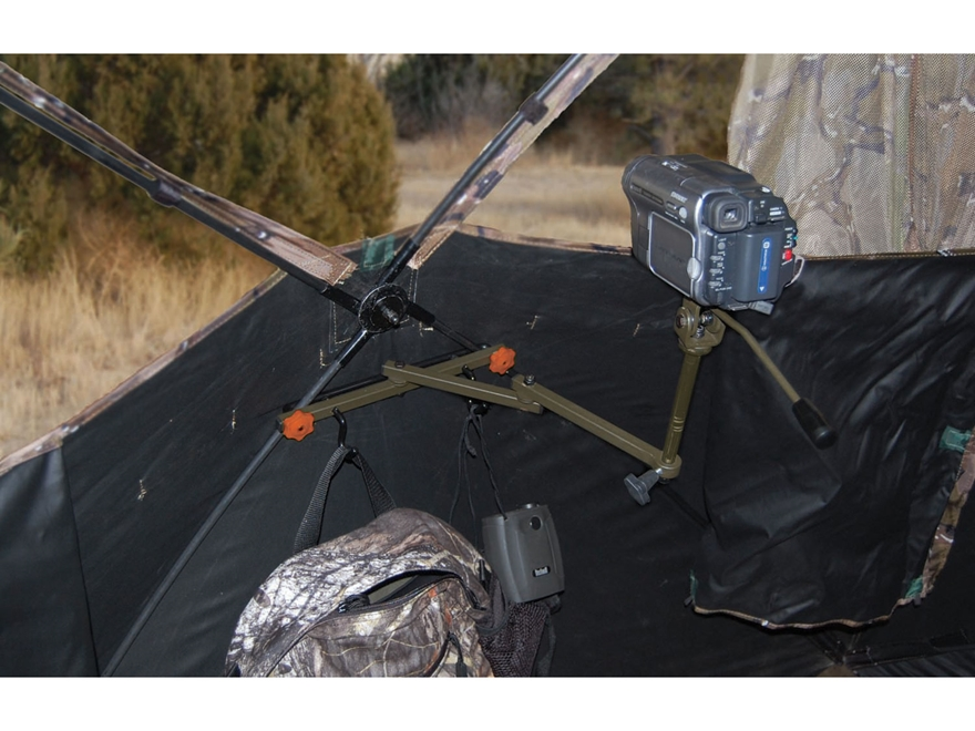 HME Ground Blind Video Camera Arm Steel Brown