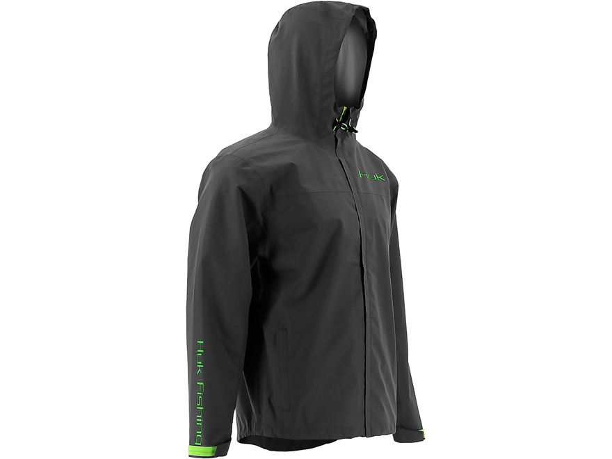 Huk Men's Waterproof Packable Rain Jacket Polyester