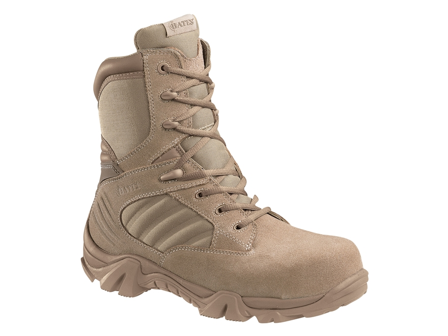 """Bates GX-8 8"""" Composite Safety Toe Side-Zip Tactical Boots Leather/Nylon Men's"""