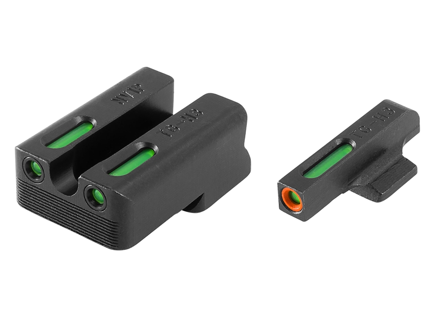 TRUGLO TFX Pro Sight Set 1911 Novak Cut Tritium / Fiber Optic Green with Orange Front D...
