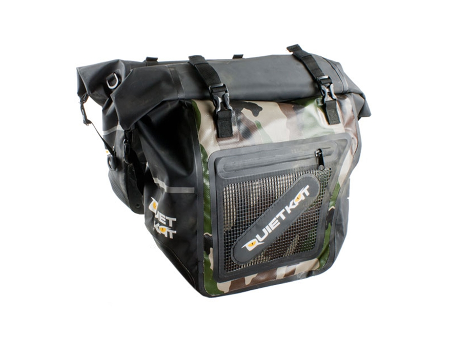 QuietKat Motorized FatKat Bike Pannier Saddle Bags Polymer Camo