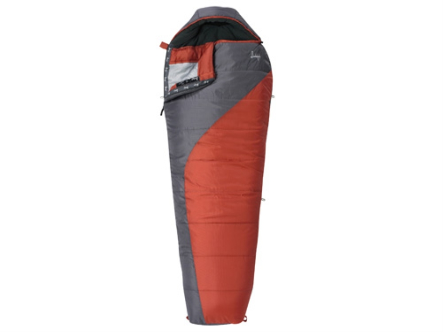 "Slumberjack Lone Pine 0 Degree Mummy Sleeping Bag 31"" x 80"" Polyester Red and Gray"