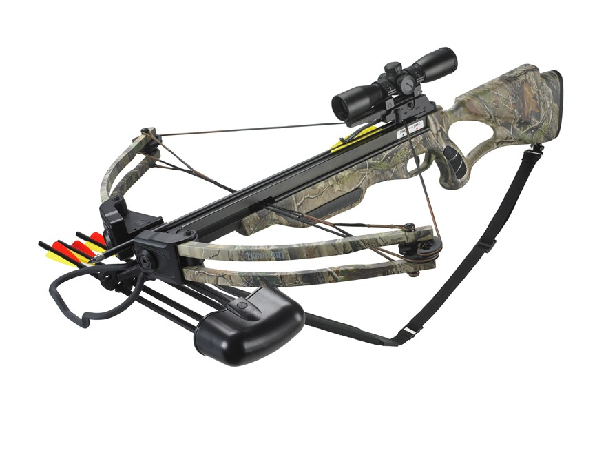Velocity Archery Lionheart Crossbow Package with 4x 32mm Illuminated Crossbow Scope Rea...