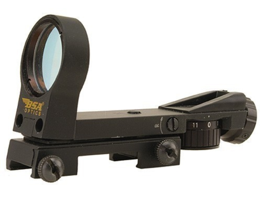 BSA Reflex Red Dot Sight 33mm Heads Up Display 4-Pattern Reticle (2 MOA Dot, Crosshair ...