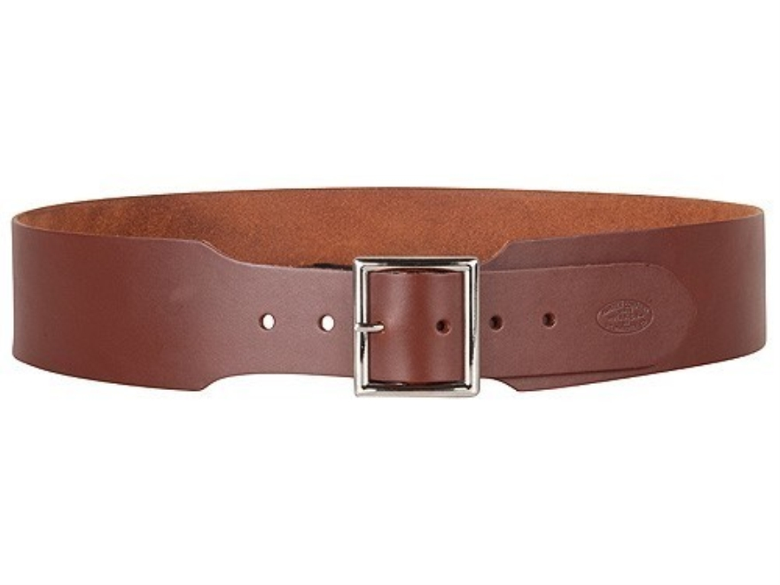 "Hunter Belt 2-1/2"" Wide Leather Antique Brown"