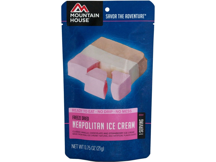 Mountain House Neopolitan Ice Cream Bar Freeze Dried Food .8 oz