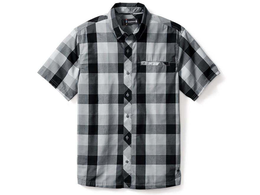 Smartwool Men's Summit County Retro Plaid Button-Up Shirt Short Sleeve Merino Wool/Cotton