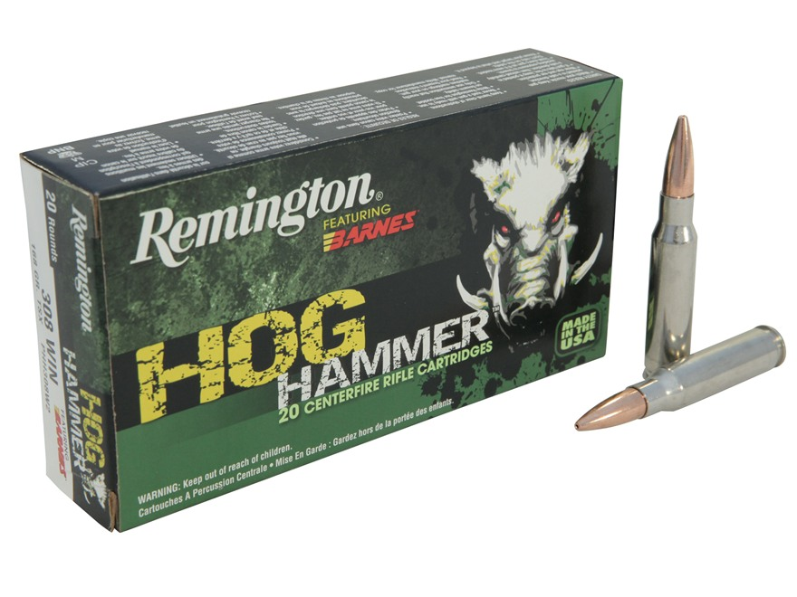 Remington Hog Hammer Ammunition 308 Winchester 168 Grain Barnes Triple-Shock X Bullet H...