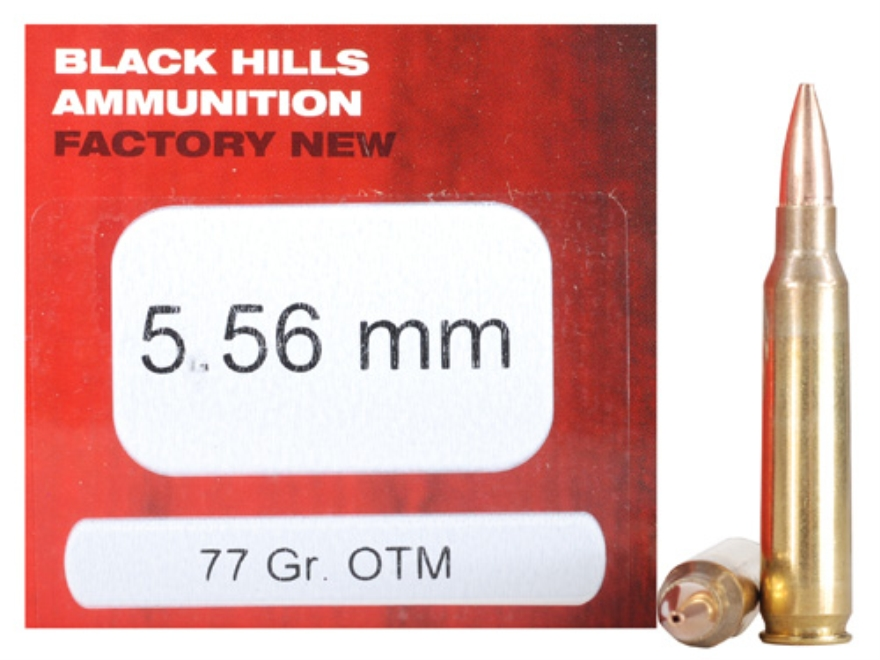 Black Hills Ammunition 5.56x45mm NATO 77 Grain Sierra MatchKing Hollow Point
