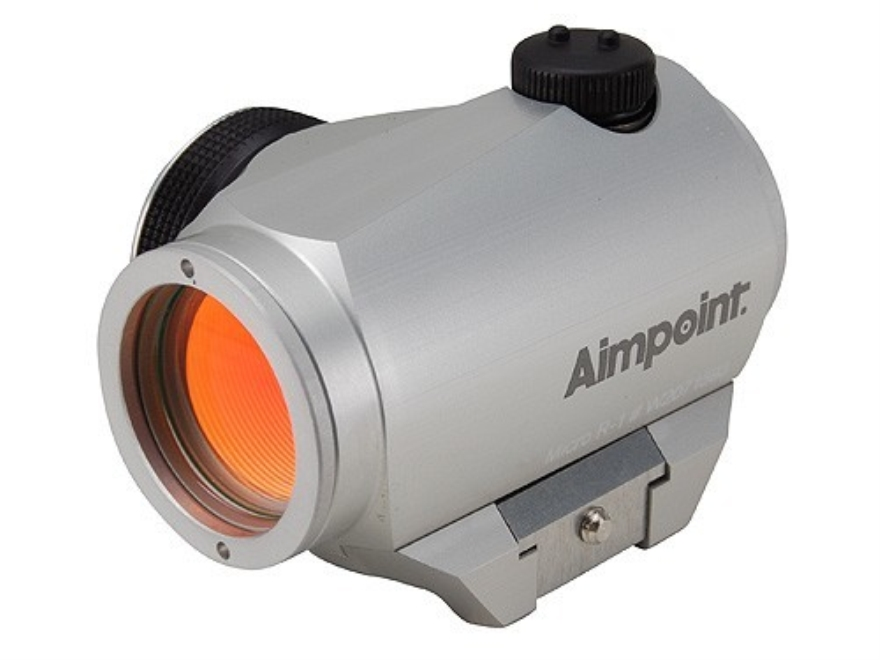 Aimpoint Micro R-1 Red Dot Sight 4 MOA with Weaver-Style Mount Silver