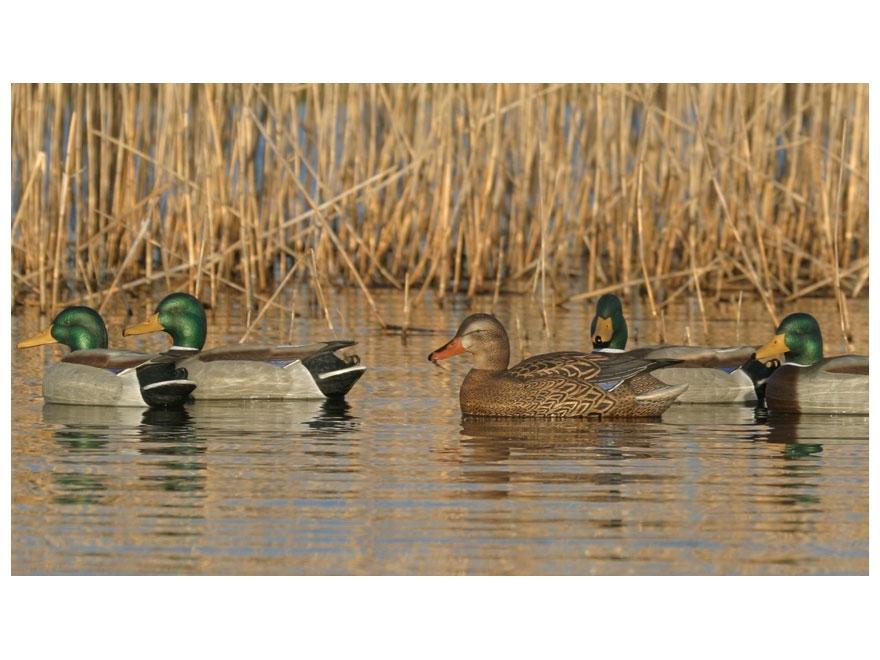 GHG Pro-Grade Pre-Texas Rigged Mallard Duck Decoy Pack of 6