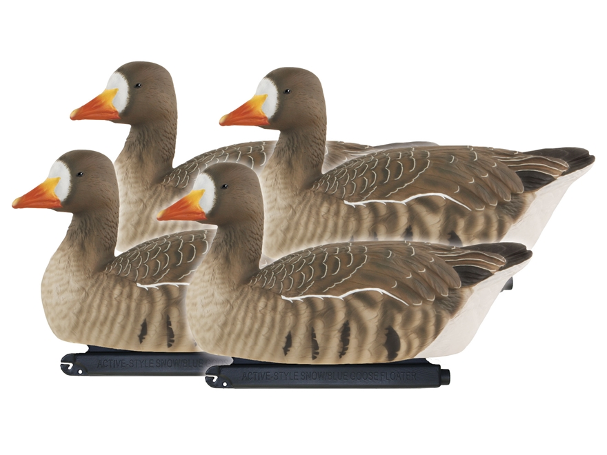 GHG Pro-Grade Active Floater Specklebelly Goose Decoy Pack of 4
