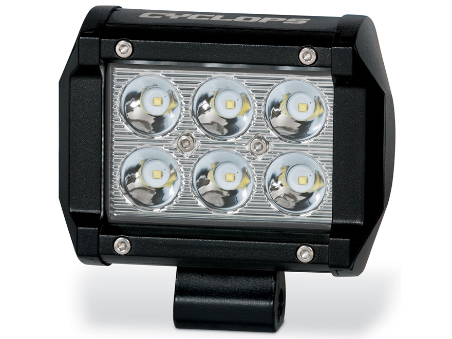 Cyclops C3B Series Dual Row LED Bottom Mount Light Bar with Mounting Brackets Aluminum ...