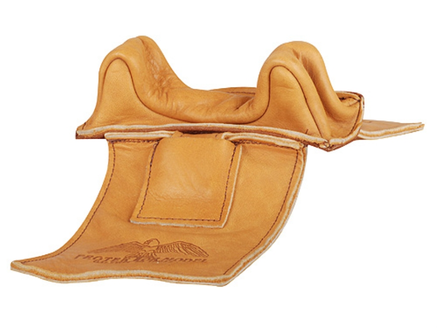Protektor Wide Owl Ear Straddle Shooting Rest Bag Leather Tan Unfilled