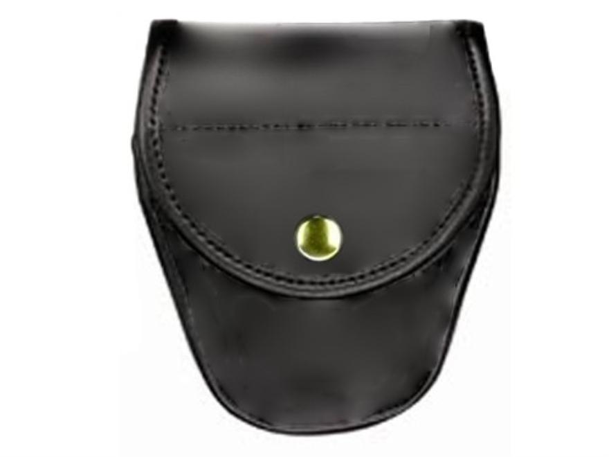 Bianchi 7900 AccuMold Elite Covered Cuff Case Brass Snap Trilaminate High-Gloss Black