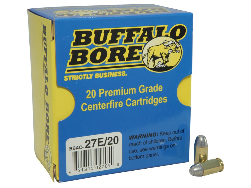 Buffalo Bore Ammunition 380 ACP 100 Grain Hard Cast Lead Flat Nose Box of 20