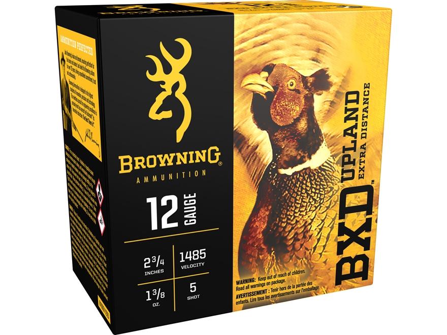 """Browning BXD Upland Ammunition 12 Gauge 2-3/4"""" 1-3/8 oz #5 Shot"""