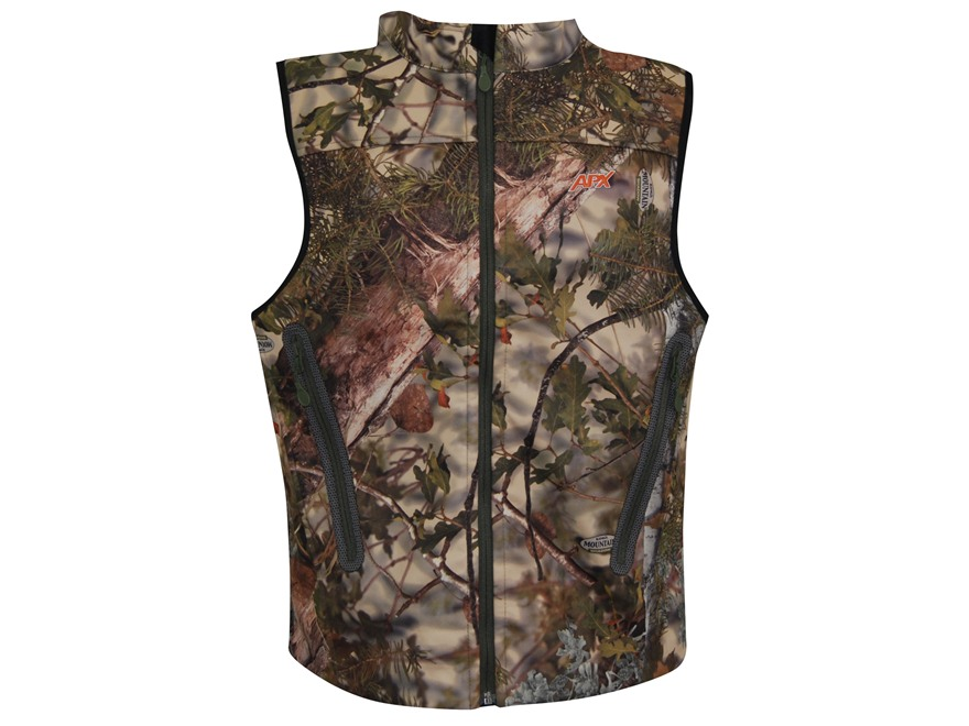 APX Men's L3 Gale Softshell Vest Polyester Kings Mountain Shadow Camo XL 46-48