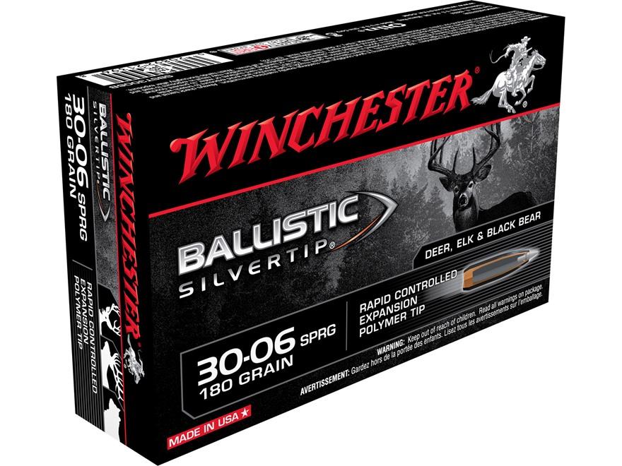 Winchester Ballistic Silvertip Ammunition 30-06 Springfield 180 Grain Rapid Controlled ...