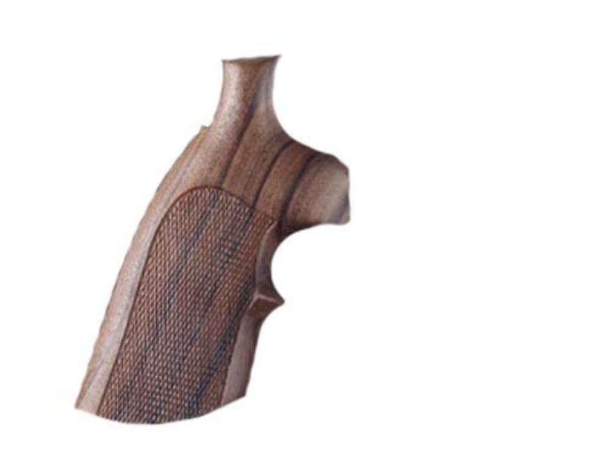 Hogue Fancy Hardwood Grips with Top Finger Groove Colt Diamondback Checkered