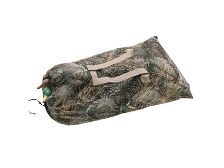 Flambeau Mesh Decoy Bag Polyester Mossy Oak Duck Blind Camo