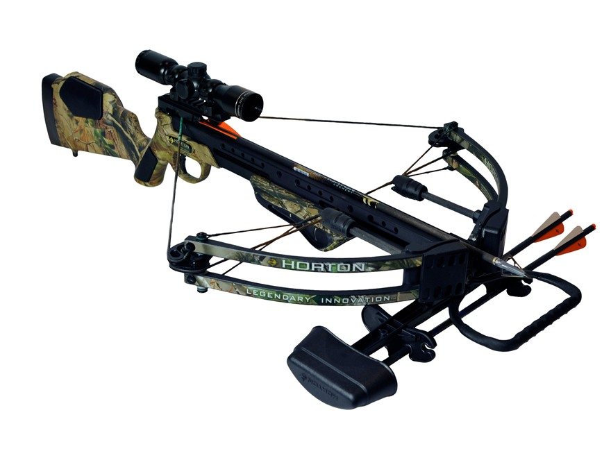 Horton Team Realtree Nitro Crossbow Package with 4x 32mm Mult-A-Range Crossbow Scope Re...
