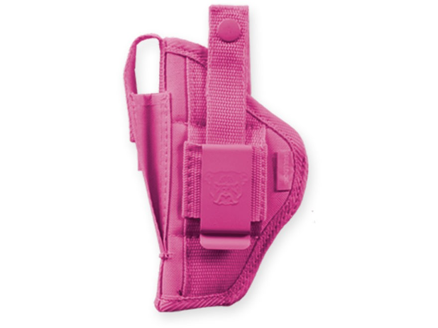 Bulldog Extreme Belt and Clip Holster Ambidextrous Fits Mini Semi Auto's Nylon Pink