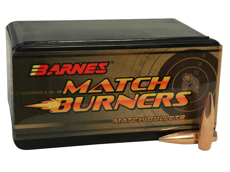 Barnes Match Burner Bullets 30 Caliber (308 Diameter) 175 Grain Boat Tail Box of 100