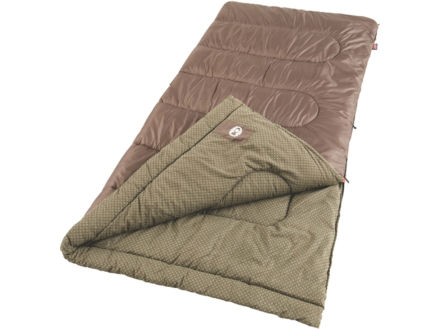 Coleman Oak Point 40 Degree Big & Tall Sleeping Bag Polyester Brown