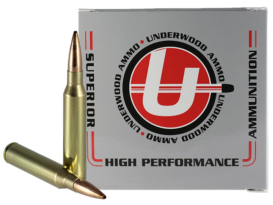 Underwood Match Grade Ammunition 338 Lapua Magnum 300 Grain Hollow Point Boat Tail Box ...