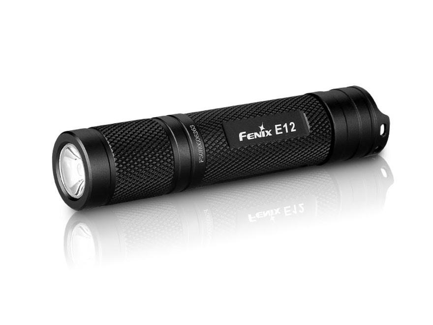 Fenix E12 Flashlight LED with 1 AA Battery Aluminum Black