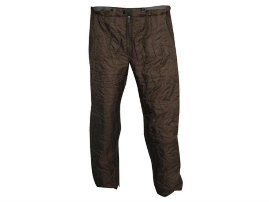 Military Surplus German Wet Weather Pant Liner Grade 1 Nylon Brown XL