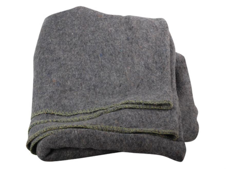 Military Surplus Polish Blanket Wool Grade 3 Gray