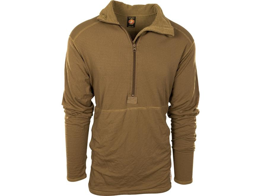 Military Surplus USMC Waffle Grid Base Layer 1/4 Zip Shirt