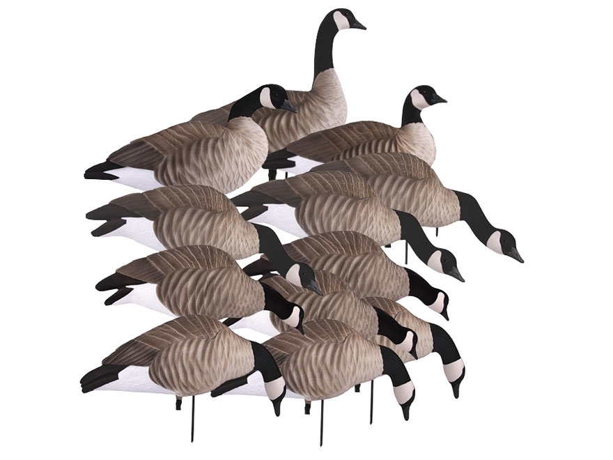 GHG Newbold Lesser Harvester Full Body Goose Decoy Pack of 12