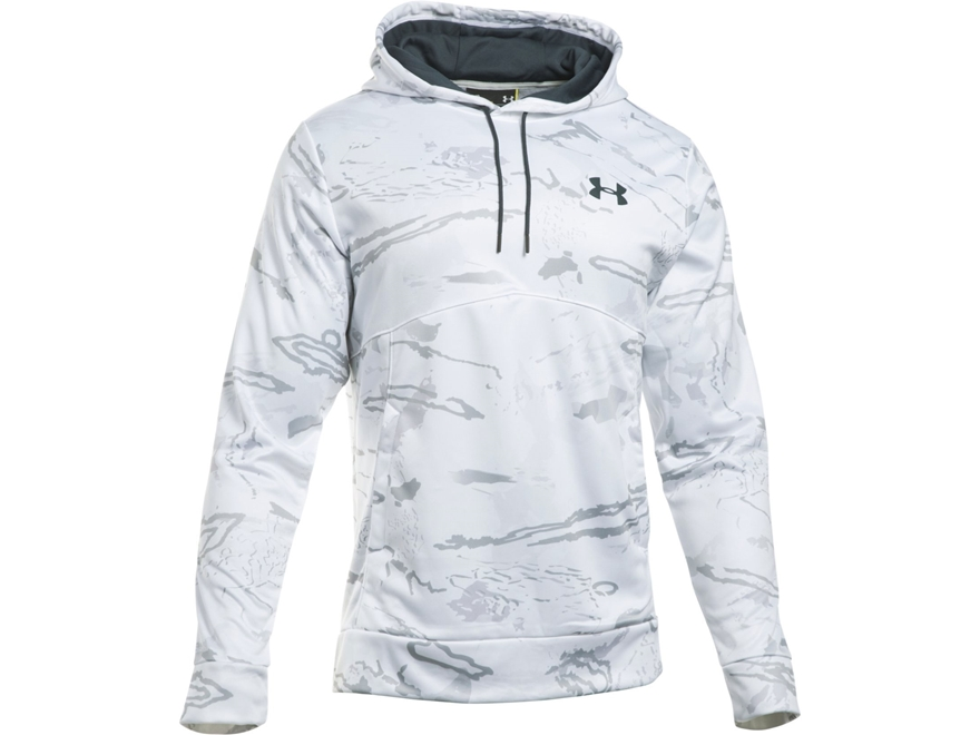 Under Armour Men's UA Franchise Camo Hoodie Polyester Ridge Reaper Snow Camo Medium