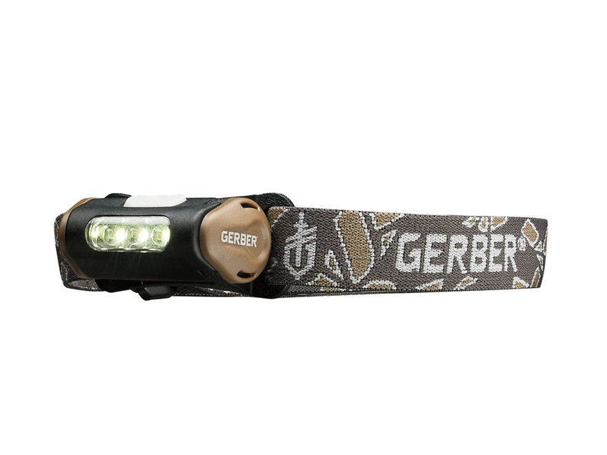 Gerber Myth Hands Free Headlamp LED with 1 AAA Battery Polymer Black and Brown
