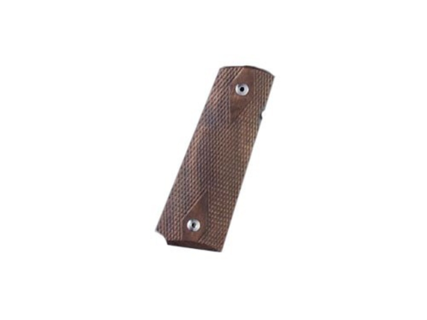 Hogue Grips 1911 Government, Commander Double Diamond Checkered Walnut