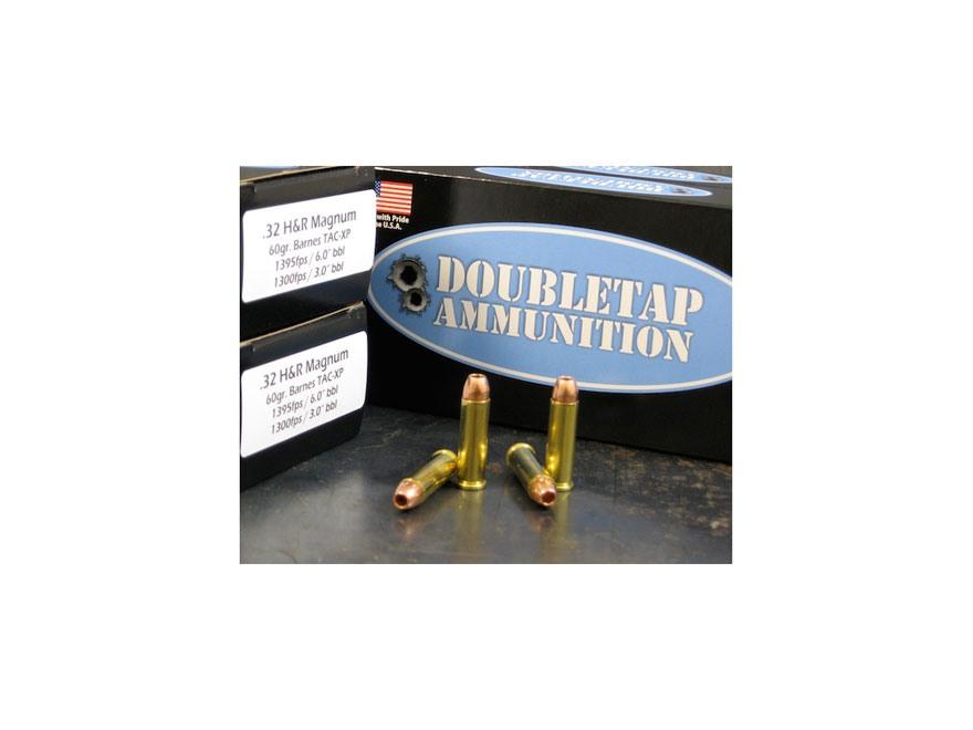 DoubleTap Ammunition 32 H&R Magnum 60 Grain Barnes TAC-XP Lead-Free Box of 50