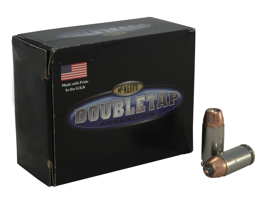 DoubleTap Ammunition 40 S&W 165 Grain Bonded Defense Jacketed Hollow Point Box of 20