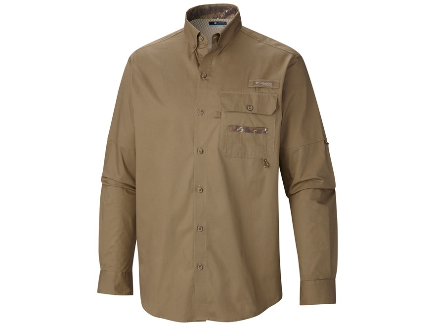 Columbia Men's Sharptail Button-Up Shirt Long Sleeve Cotton