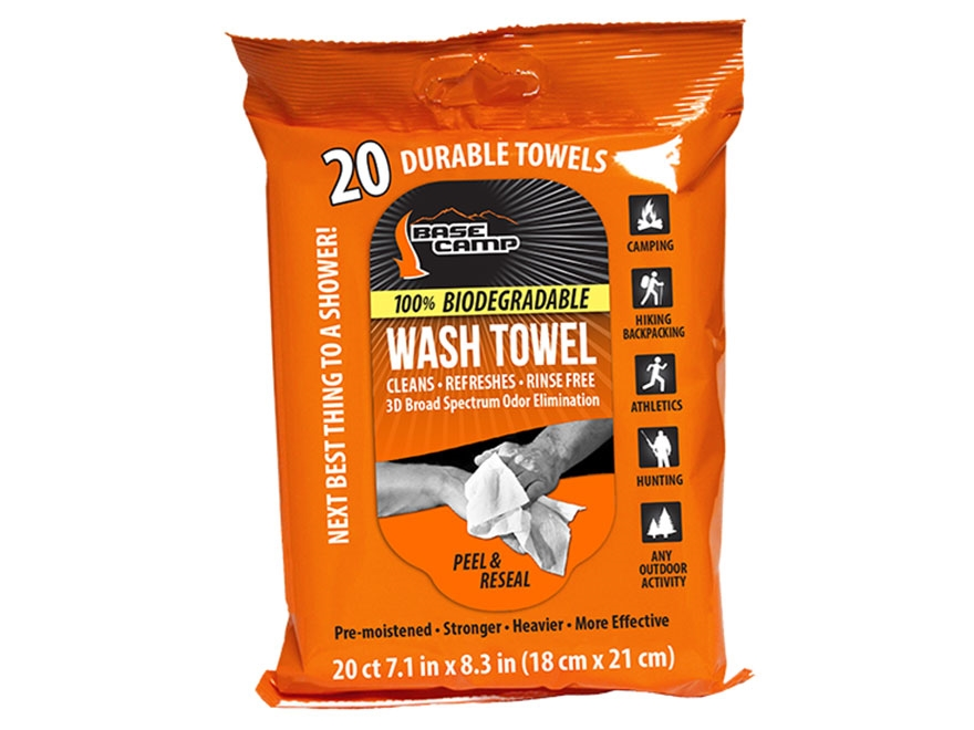 Dead Down Wind Camp Scent Elimination Wash Towel Pack of 20