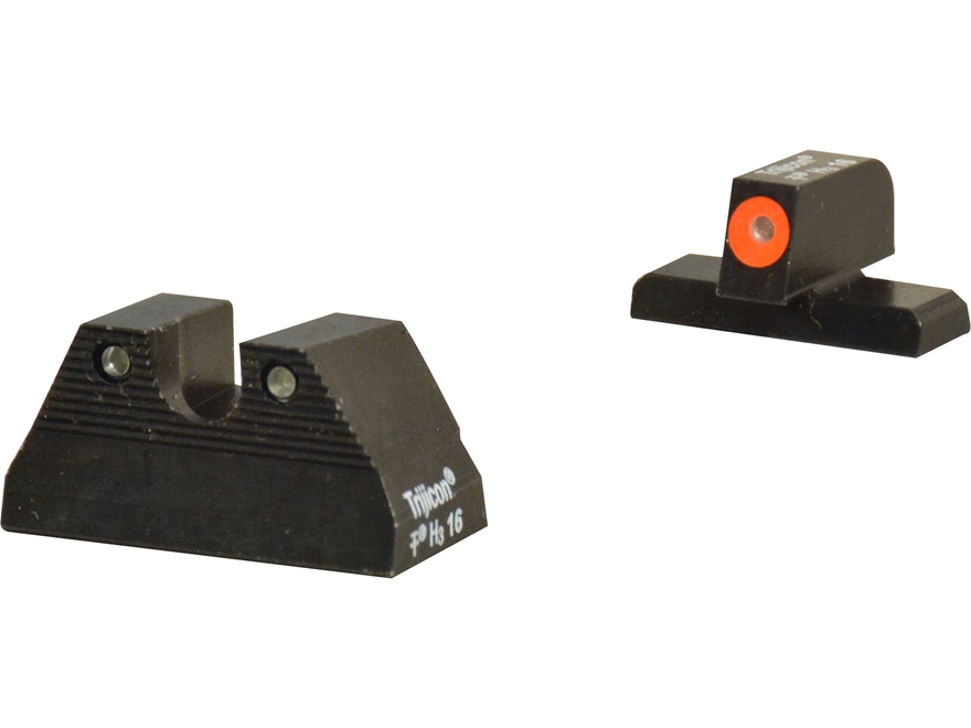 Trijicon HD Night Sight Set HK USP Steel Matte 3-Dot Tritium Green with Front Dot Outline