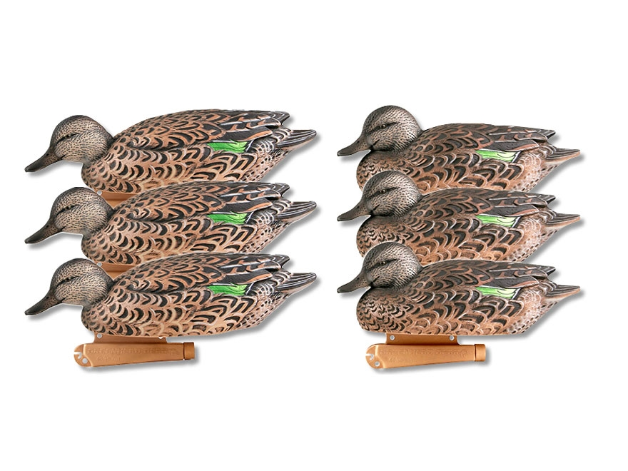 GHG Pro-Grade Early Season Hen Pack Green-Winged Teal Duck Decoy Pack of 6