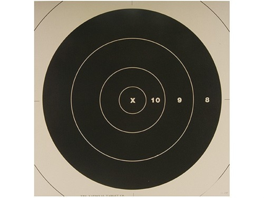 NRA Official High Power Rifle Targets Repair Center SR-42C 200 Yard Rapid Fire Paper Pa...