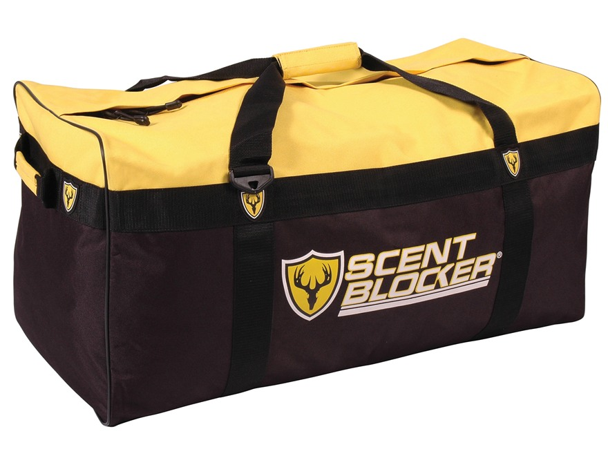ScentBlocker Travel Duffel Bag Nylon Yellow and Black