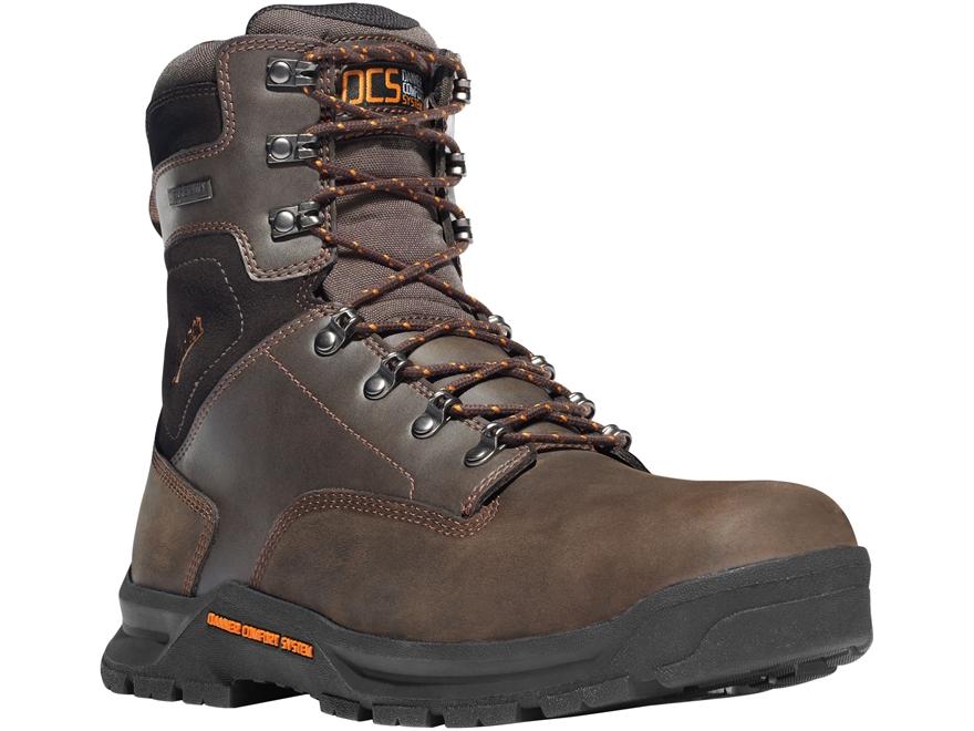 """Danner Crafter 8"""" Waterproof Non-Metallic Toe Work Boots Leather Men's"""