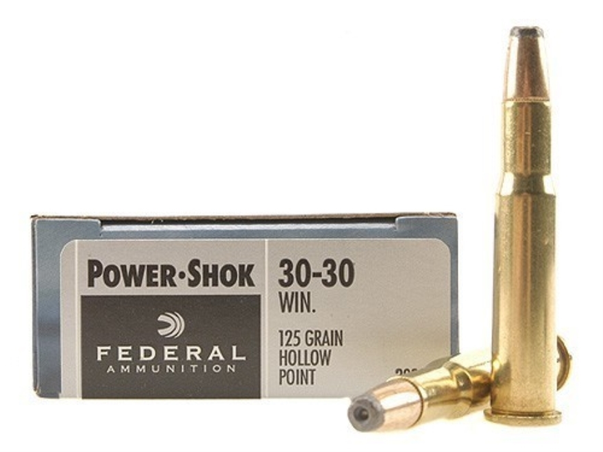 Federal Power-Shok Ammunition 30-30 Winchester 125 Grain Jacketed Hollow Point Box of 20