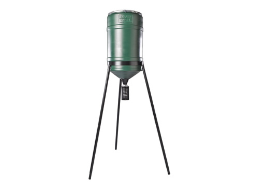 On Time Lifetime 200 lb Tripod Game Feeder Combo